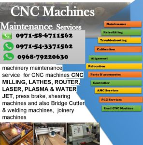 CNC Router, Laser, Water jet Plasma Repairing services